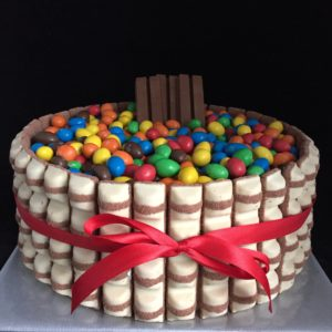 snoep taart M&M