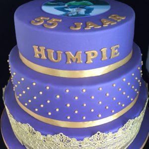 klassieke taart paars