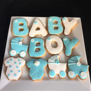 babyshower koekjes variatie