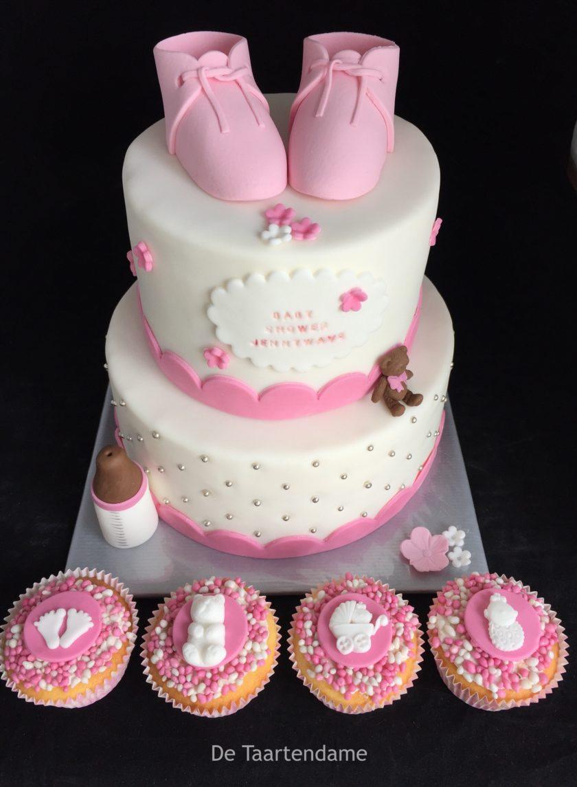 Babyshower stapel taart