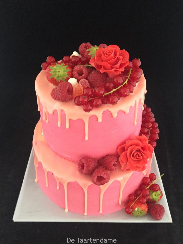drip cake met vers fruit