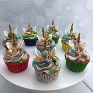 unicorn kleuren cupcake