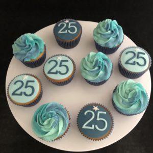 blauw cupcake
