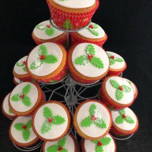 Kerst Hulstcupcake