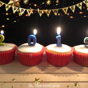 Nieuwjaar Cupcake