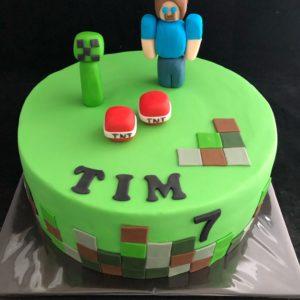 Minecraft taart