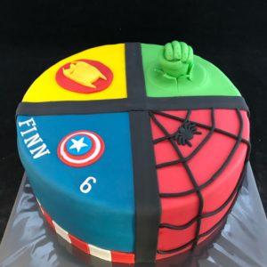 Superhelden taart