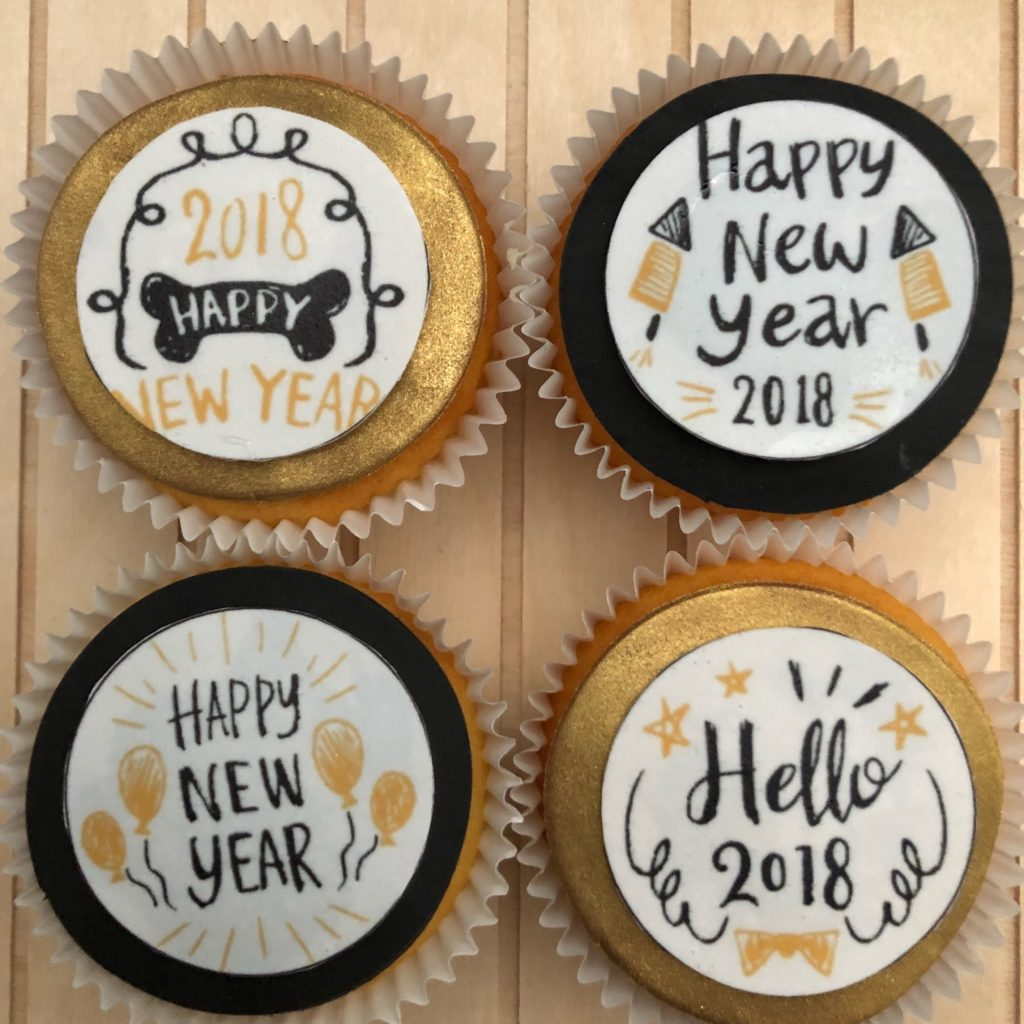Nieuwjaars cupcake