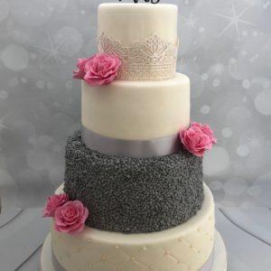 bruidstaart zilver wit