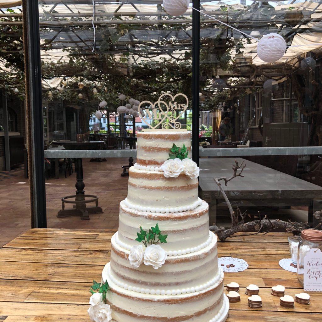 Naked Cake Bruidstaart