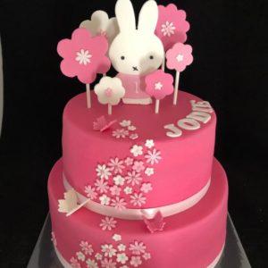 Rose taart