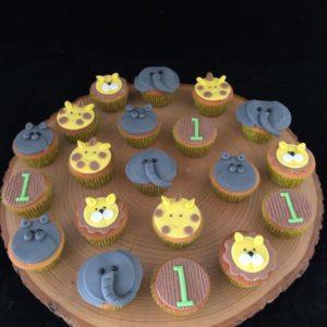 Jungle mini cupcake