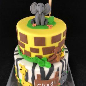 Olifant op taart