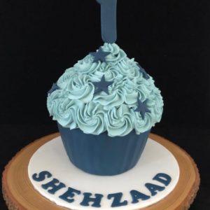 Blauw met sterren Smashcake