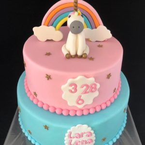 Verjaardagstaart regenboog
