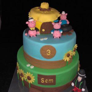 Drie biggetjes taart