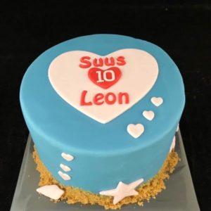 Strandtaart 10jarig huwelijk