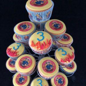 Brandweerman Cupcakes