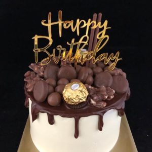 Verjaardagstaart met Chocodrip