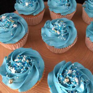 Cupcake blauwe toef