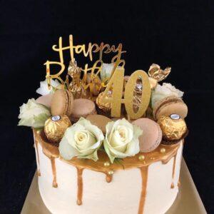 drip goud taart