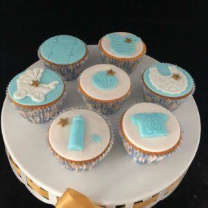 Babyshower jongen cupcakes