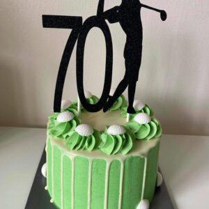 Verjaardagstaart golf thema