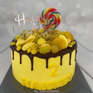 Verjaardagstaart met snoep