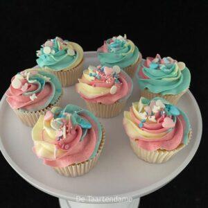 Genderreveal cupcakes
