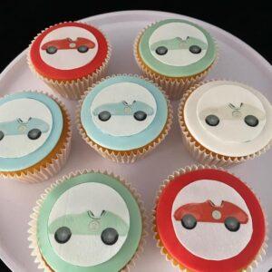 Cupcake met auto