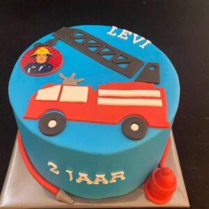 Brandweer verjaardagstaart