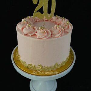 20e verjaardagstaart