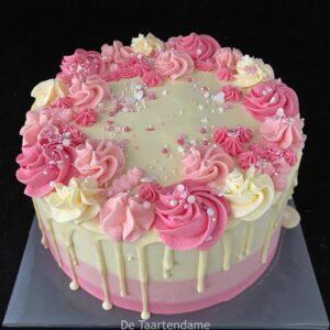 Verjaardagsdrip taart
