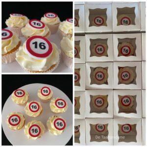 16 jaar Cupcakes