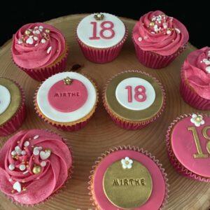 18 jaar Cupcakes
