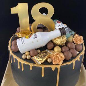 18e Verjaardagstaart