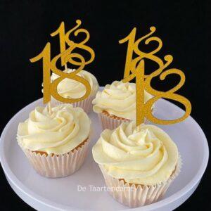 18e verjaardagscupcakes