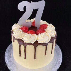 verjaardagstaart 27 jaar