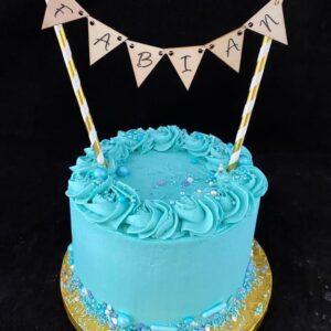 Verjaardagstaart in blauw