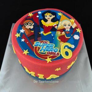 Super hero girls taart