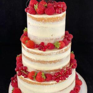 Bruidstaart vers fruit