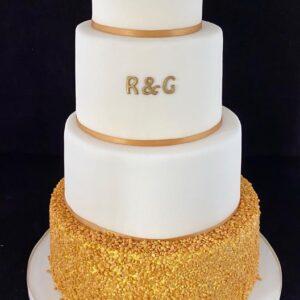 Bruidstaart met goud