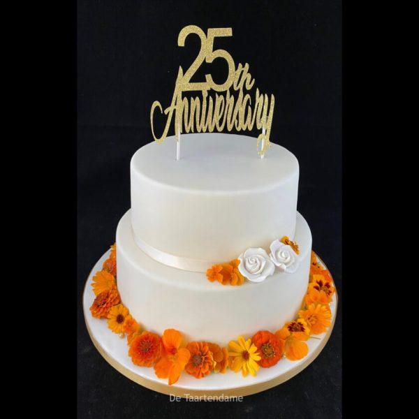 25 jaar huwelijktaart