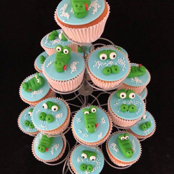 Krokodil cupcake